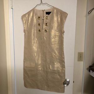 JCrew gold dress